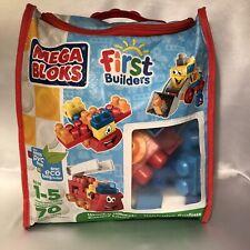 Mega Bloks Wacky Wheels #6636 70 pieces Zipper Bag for Storage Included EUC!