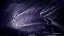 tissu epais  lourd et extensible daim skai peau col bleu foncé 50x140 cm,