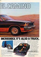 1978 Chevrolet El Camino Super Sport 2-page Advertisement Print Art Car Ad J800