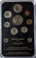 SWITZERLAND - (8) Coin Proof Set - 1984 - PS11 - Hard Plastic Holder