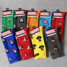 9 Pairs Mens Sport Socks Lot Warm Super Hero Design Casual Dress Socks