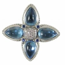David Yurman Blue Topaz Pendant Enchancer