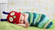 Beanie Crochet Very Hungry Caterpillar Hat Cocoon Set Party Costume Photo Props