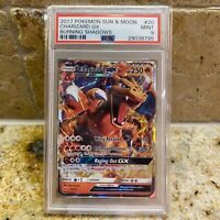 PSA 9 - 2017 Pokemon Sun & Moon Burning Shadows Charizard GX 20/147 (29038795)