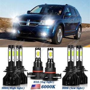 For Dodge Journey2010 2011-2013 2014 2015 2016 2017 2018 LED Headlight+Fog Light
