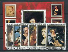 Komoren 353/58 Block 97 postfrisch / Gemälde - Rubens ....................2/3463