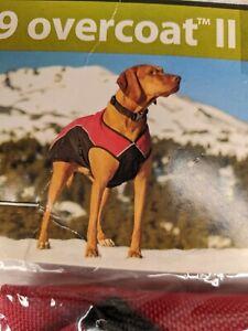 Dog Jacket L Ruffwear Red Overcoat Abrasion Wind Water Resistant Fleece Lined