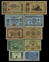 5 - 1000 Mark Reichskassenschein / Banknoten - Ausg. 1874 - 1876- Reproduktion