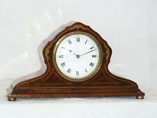 French Mahogany inlaid Mantle Clock For Repair Spares Parts No Platform