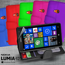 6 Colour Side ID Wallet Leather Case Cover for Nokia LUMIA 625 Screen Guard