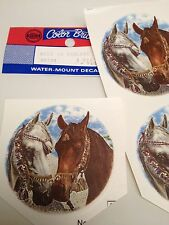 Horse heads royal bridles ceramic decals lot of 24