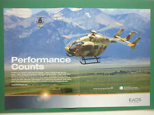10/2008 PUB EADS NORTH AMERICA ARMED AERIAL SCOUT 72X US ARMY ORIGINAL AD