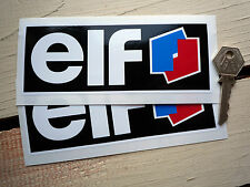 "ELF Race Car STICKERS 6""Pair Decals F1 F2 F3 F3000 Superbike Racing Bike Hot Rod"