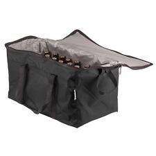 Insulated BLACK Nylon Hot Cold Catering Delivery Food Carrier Bag 124COOLLGBK