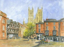 Lincoln Cathedral -  Hand Signed, Titled and Mounted Print with COA