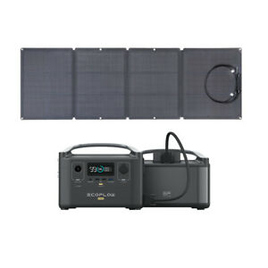 EcoFlow 720Wh River600 Pro Solar Generators With Spare Battery 110W Solar Panel