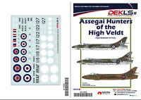 1/72 Decals Hawker Hunter - Assegai Hunters of the High Veldt RRAF - DEKL's II