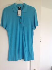 BNWT MENS SHORT SLEEVED POLO SHIRT BRIGHT BLUE BY H & M SIZE SMALL RRP £9.99