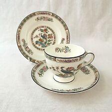 Wedgwood Kutani Crane Tea Trio R4464 Tea Cup, Saucer and Tea Plate Perfect