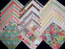 12X12 Scrapbook Paper Cardstock Boutique Bonjour Garden Florals Blooms Happy 24