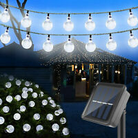 Solar 30 LED String Light Garden Path Party Decor Lamp Outdoor Waterproof White