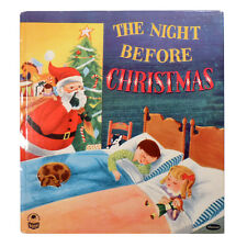 1955 THE NIGHT BEFORE CHRISTMAS Unused Illustrated Book WHITMAN, A COZY CORNER