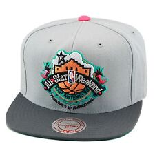 Mitchell & Ness NBA All Star WEEKEND GREY Vintage Snapback Hat Cap