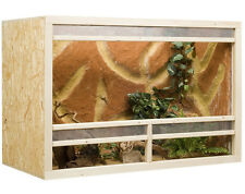 Bois Terrarium 120 x 60 x 80 cm plaque OSB, Front de ventilation (L x P x H)