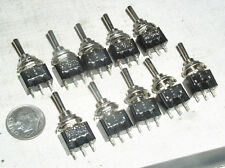 10 NEW MINI TOGGLE SPDT AC DC ON-OFF-ON MOM-OFF-MOM MOMENTARY SWITCH 6A USA SHIP
