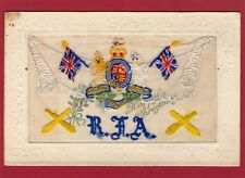 More details for rha royal horse artillery embroidered silk with insert pc used  ak421