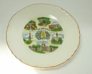 "Vintage Collectible Souvenir State Plate ~ Alabama ~ 9.5"""