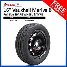 "VAUXHALL Meriva B 2010-2017  FULL SIZE 16"" STEEL SPARE WHEEL AND TYRE"