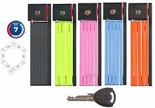 Abus Ugrip Bordo 5700 Foldable U Locks 80 x 0.5 cm w 2 Keys and Holder