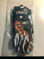 Mountain bike Gloves, MTB, MX, BMX 100%, XL, Black and Orange, NEW with Tags