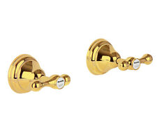 Pure 24K Yellow GOLD Mondella Maestro Wall Tap Top Assembly Lever Set Taps