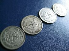 More details for george vi silver threepence colonial coins 1942-1944 s.4085 fine to vf+ grades