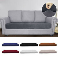 1-4 Seats Sofa Seat Cushion Cover Couch Cushion Stretchy Slipcovers Protector