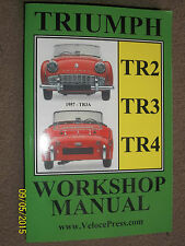 TRIUMPH TR2 TR3 TR3a & TR4 WORKSHOP MAINTENANCE & REPAIR MANUAL 1953-1967