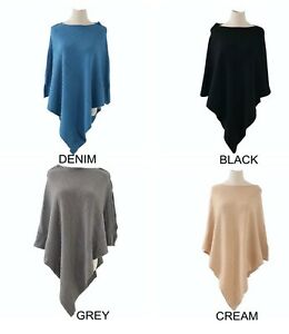 Super Soft Luxury Cable Knit Pattern Poncho