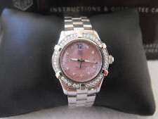 WAF141B.BA0813 Tag Heuer Ladies Aquaracer Swiss Quartz Pearl Diamond Pink Watch