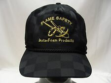 FLAME SAFETY - INSTA-FOAM PRODUCTS - BLACK - ADJUSTABLE SLIDER BALL CAP HAT!