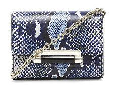 NWT Diane Von Furstenberg Cobalt Python Leather Heritage Micro Mini Crossbody