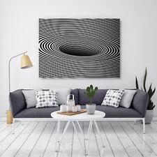 Leinwandbild, 100x70cm, Schwarz Weiß, Abstrakt, Design, Wandbild, 16isa