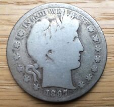 1897 S Barber Half Dollar VG Very Good