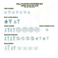 HONDA BULLONE RACCORDO PLASTICA Kit di fissaggio CRF 250 R 2006 - 2009 DADI VITI