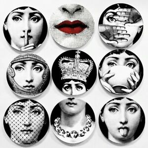 Fornasetti Big Eyes Plate With Lids Ceramic Decorative Plates