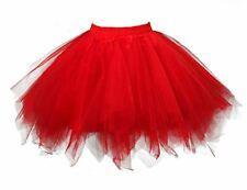 Women's  Dance Costume 1950s Red Tutu Red Peticoat size M