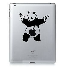banksy panda. Apple Ipad mac macbook autocollant vinyle décalcomanie.