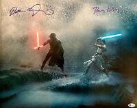 Driver & Ridley Signed Star Wars Rise of Skywalker 11 x 14 Photo Ren Rey Beckett