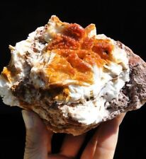 Large 0,82kg Red-Orange VANADINITE on Barite - Mibladen, Midelt, Morocco